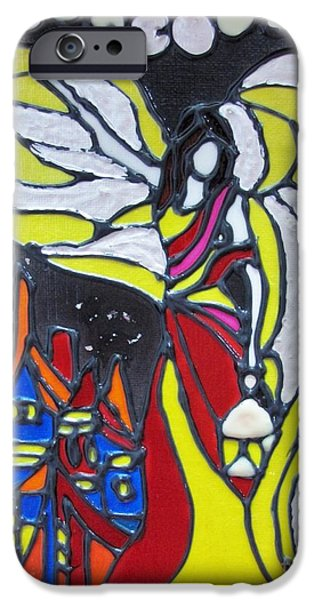 Night Angel Mixed Media iPhone Cases - Angel of Light iPhone Case by Michele Napier-Berg