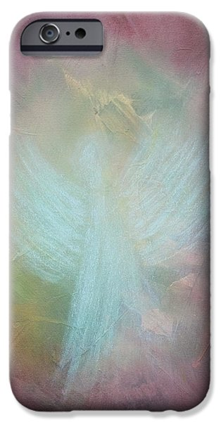 Angel Blues Pastels iPhone Cases - Angel Of Light iPhone Case by Tara Arnold