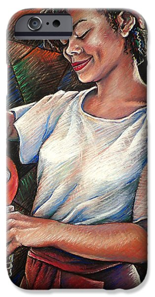 Drama Pastels iPhone Cases - Angel of Mercy iPhone Case by Mary Knape