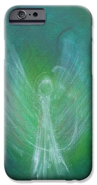 Angel Blues Pastels iPhone Cases - Angel Of Mine iPhone Case by Tara Arnold