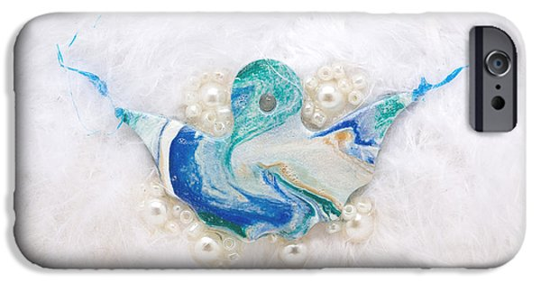 Magical Reliefs iPhone Cases - Angel of purity iPhone Case by Heidi Sieber