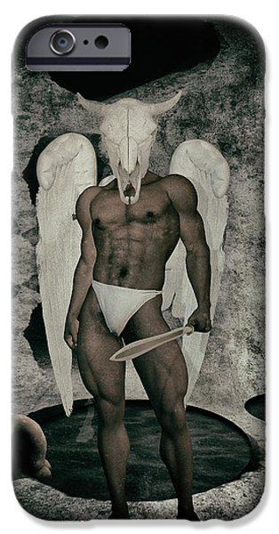 Seraphim Angel iPhone Cases - Danse macabre By Quim Abella iPhone Case by Joaquin Abella