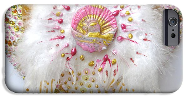 Magical Reliefs iPhone Cases - Angel of the new morning detail iPhone Case by Heidi Sieber