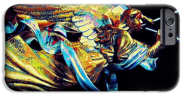 Seraphim Angel iPhone Cases - Angel  iPhone Case by ARTography by Pamela  Smale Williams