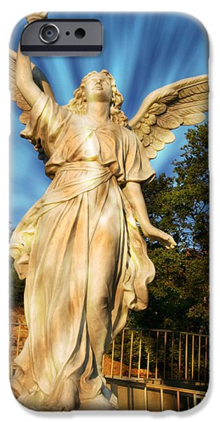 Michael Mixed Media iPhone Cases - Angel Statue iPhone Case by M and L Creations