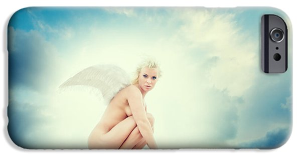 Concept Art iPhone Cases - Angel iPhone Case by Stylianos Kleanthous