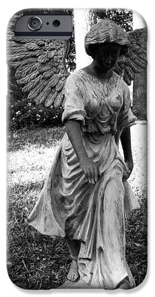 Plants Sculptures iPhone Cases - Angel Takes a Walk With Sorrow iPhone Case by Nathan Little