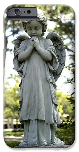 Nombre iPhone Cases - Angel iPhone Case by William Ragan