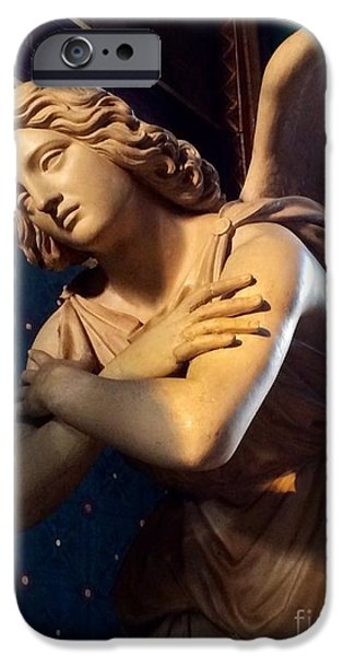 Night Angel iPhone Cases - Angel Wing iPhone Case by Barbara Chase