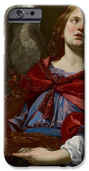 Celestial Paintings iPhone Cases - Angel with Attributes of the Passion iPhone Case by Simon Vouet