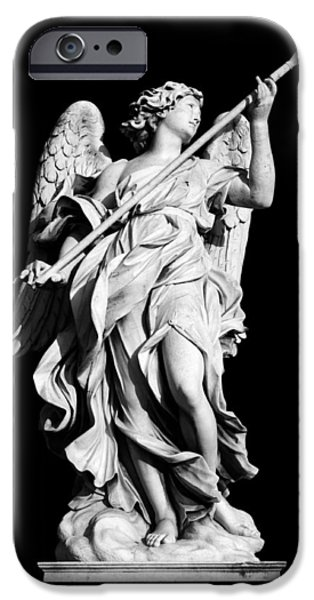 Cut-outs iPhone Cases - Angel with the Lance iPhone Case by Fabrizio Troiani