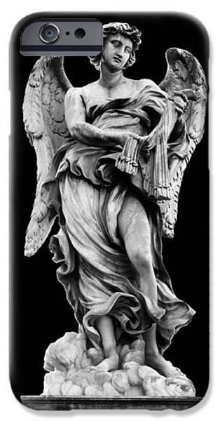 Cut-outs iPhone Cases - Angel with the Whips  iPhone Case by Fabrizio Troiani