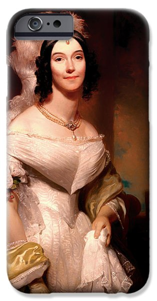 First Lady iPhone Cases - Angelica Van Buren iPhone Case by Henry Inman