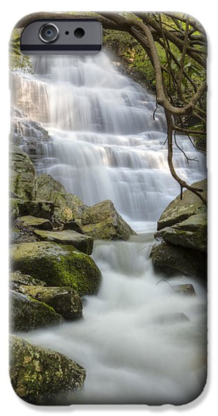 Angels at Benton Waterfall iPhone Case by Debra and Dave Vanderlaan