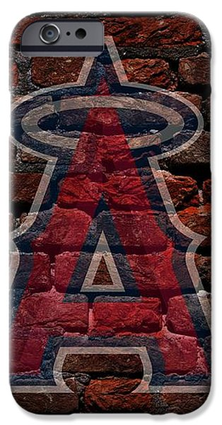 Angels Baseball Graffiti on Brick  iPhone Case by Movie Poster Prints