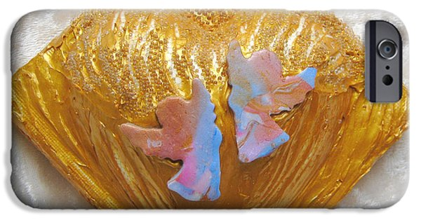 Rose Reliefs iPhone Cases - Angels dance of joy iPhone Case by Heidi Sieber