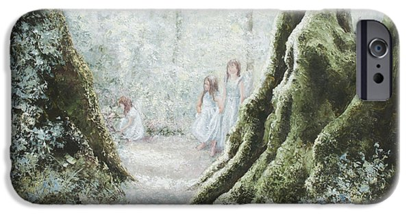Little Girl iPhone Cases - Angels in the mist iPhone Case by Jan Matson