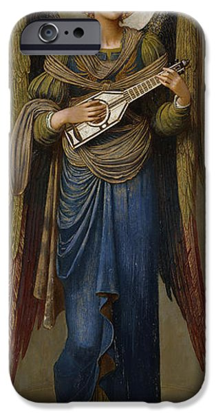 Standing Paintings iPhone Cases - Angels iPhone Case by John Melhuish Strudwick