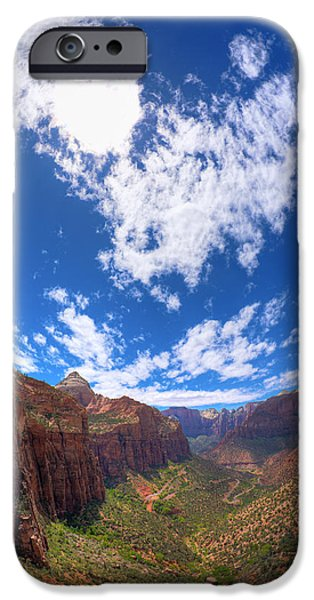 Zion Park iPhone Cases - Angels Landing iPhone Case by Alexey Stiop