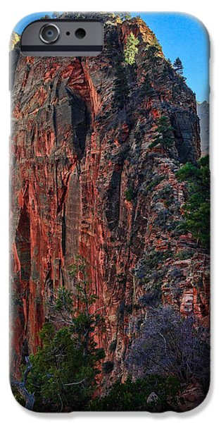 View Digital Art iPhone Cases - Angels Landing iPhone Case by Chad Dutson