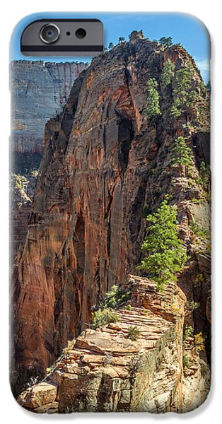 Angels landing in Zion iPhone Case by Pierre Leclerc Photography