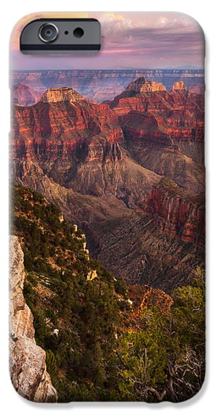 Grand Canyon iPhone Cases - Angels View - North Rim of the Grand Canyon iPhone Case by Adam  Schallau