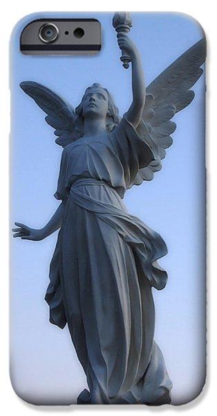 Headstones iPhone Cases - Angels Wings iPhone Case by Joann Vitali