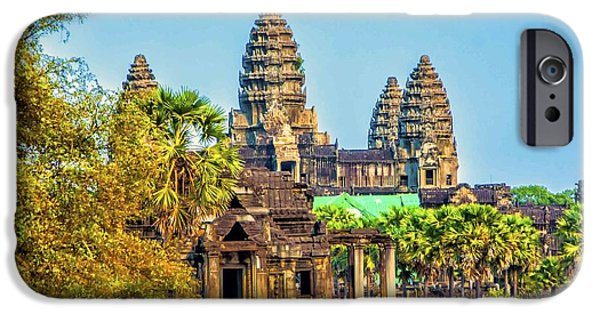 Building iPhone Cases - Angkor Afternoon iPhone Case by Roberta Bragan