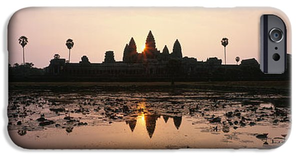 Historic Ruins iPhone Cases - Angkor Vat Cambodia iPhone Case by Panoramic Images