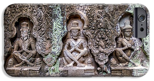 Buddhism iPhone Cases - Angkor Wat iPhone Case by Stylianos Kleanthous