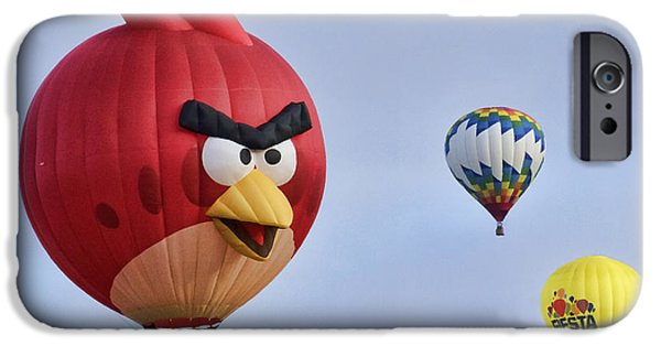Sw New Mexico iPhone Cases - Angry Bird W3254 iPhone Case by Wes and Dotty Weber