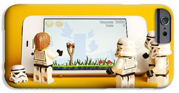 Playing Digital iPhone Cases - Angry Birds Storm Troopers iPhone Case by Samuel Whitton