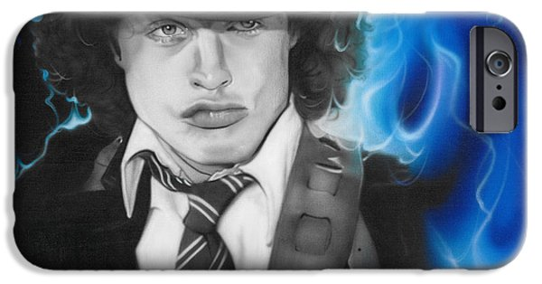 Young Paintings iPhone Cases - Angus iPhone Case by Christian Chapman Art