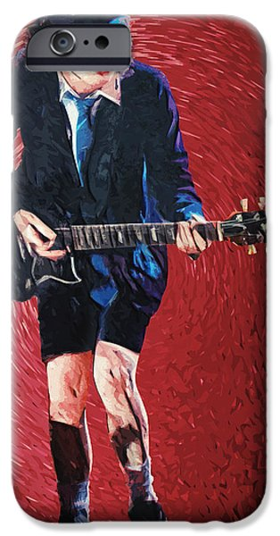 Angus Young iPhone Case by Taylan Soyturk