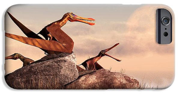 Triassic iPhone Cases - Anhanguera iPhone Case by Daniel Eskridge