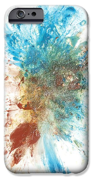 Recently Sold -  - Abstract Expressionism iPhone Cases - Yangs Walkabout iPhone Case by Sora Neva