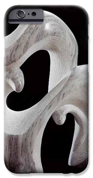 Abstract Sculptures iPhone Cases - Animal and its Cub iPhone Case by Shimon Drory