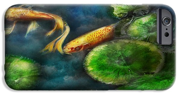 Fed iPhone Cases - Animal - Fish - The shy fish  iPhone Case by Mike Savad