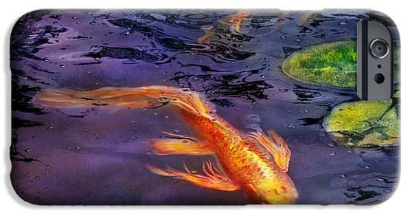 Fed Photographs iPhone Cases - Animal - Fish - Theres something about koi  iPhone Case by Mike Savad