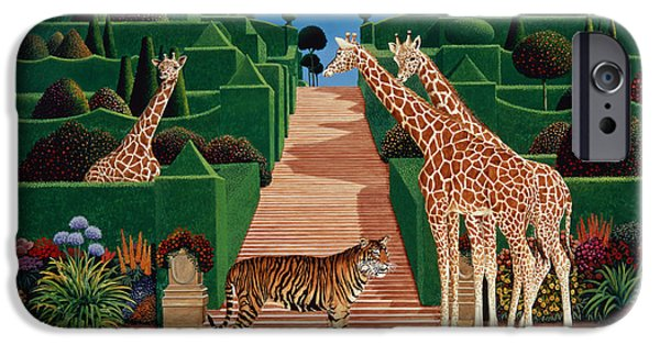 Formal iPhone Cases - Animal Garden, 1980 Acrylic On Board iPhone Case by Anthony Southcombe