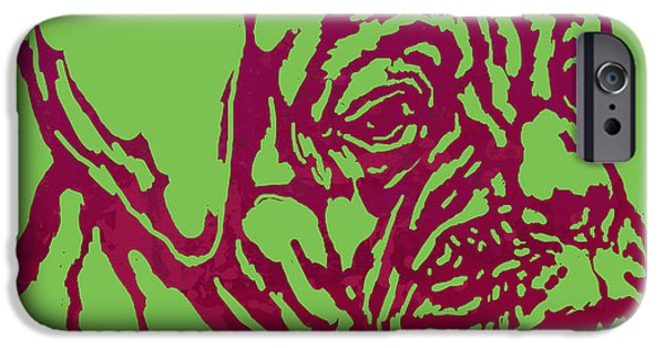 Man's Best Friend iPhone Cases - Animal Pop Art Etching Poster - Dog 13 iPhone Case by Kim Wang