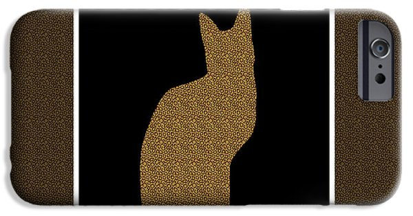 Animal Tapestries - Textiles iPhone Cases - Animal Print Cat Duvet iPhone Case by Barbara Griffin