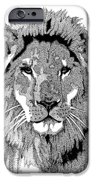 Safari Prints iPhone Cases - Animal Prints - Proud Lion - By Sharon Cummings iPhone Case by Sharon Cummings