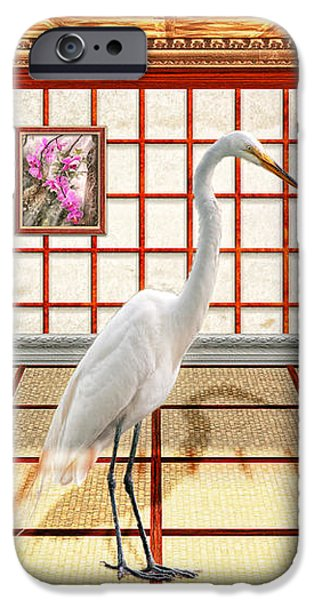 Animal - The Egret iPhone Case by Mike Savad