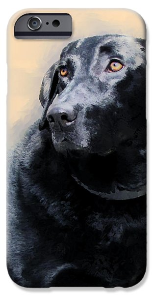 Dogs Digital Art iPhone Cases - animals - dogs- Loyal Friend iPhone Case by Ann Powell