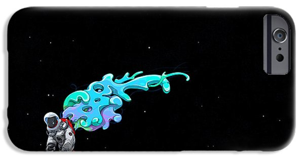 Animation iPhone Cases - Animated Space Man iPhone Case by Gianfranco Weiss