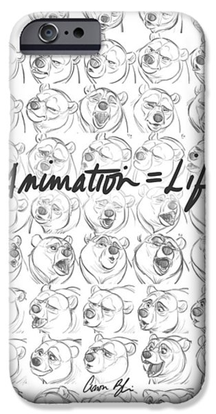 Animation iPhone Cases - Animation  Life iPhone Case by Aaron Blaise