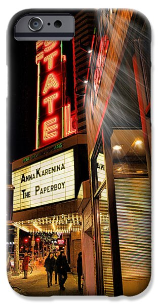 Recently Sold -  - Wintertime iPhone Cases - State Theater Marquee iPhone Case by Pat Cook