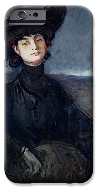 Countess iPhone Cases - Anna De Noailles 1876-1933 Oil On Canvas iPhone Case by Jean Louis Forain