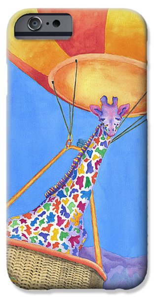 Recently Sold -  - Hot Air Balloon iPhone Cases - Annabelle Aloft iPhone Case by Rhonda Leonard